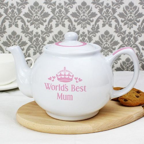 Personalised Pink World's Best Teapot